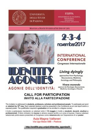Identity agonies. Conferenza internazionale