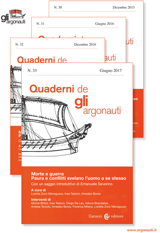 Abbonamenti riviste argonauti. Copertine Quaderni