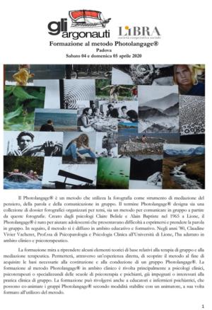 Corso Photolangage 2020